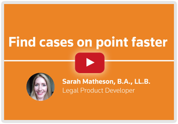 Video - Find Cases on Point Faster